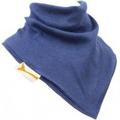 Bavoir bandana uni bleu marine