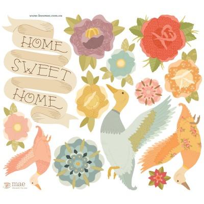 Sticker Canard Home sweet home  par Love Maé