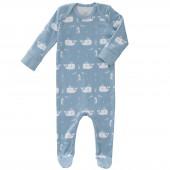 Pyjama léger Baleine bleu (0-3 mois : 50 à 60 cm) - Fresk