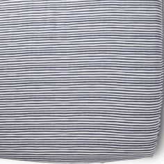 Drap Housse Stripes Away Ink rayures bleues (70 x 140 cm)