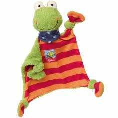 Doudou plat grenouille Folunder Frog