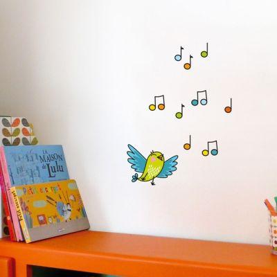 Stickers Oiseau chanteur cui-cui  par Série-Golo