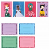 Pack de 8 cartes d'invitation des Coquettes - Little big room by Djeco