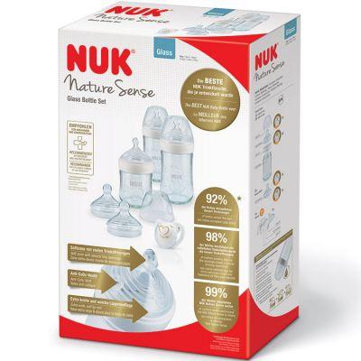 Coffret biberons en verre Nature Sense (150 et 240 ml)  par NUK