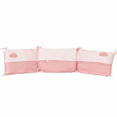 Tour de lit Lily poudrée (pour lits 60 x 120 et 70 x 140 cm)  par Sauthon