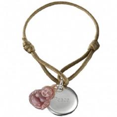 Bracelet cordon Buddha (argent 925° et nacre)