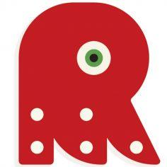 Lettre décorative pieuvre R (coloris aléatoire)