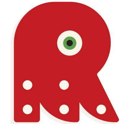 Lettre décorative pieuvre R (coloris aléatoire) Djeco