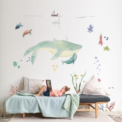 Sticker géant L'océan  par Mimi'lou