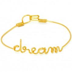 Bracelet Dream en fil Gold-filled or jaune 585° (16 cm)