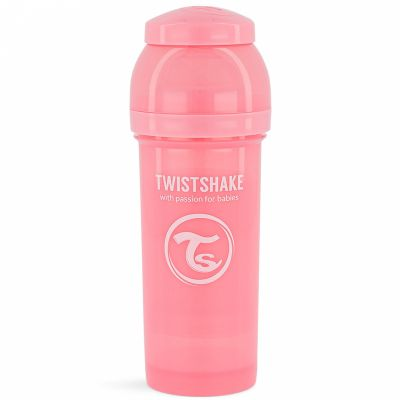 Biberon anti-colique rose pastel (260 ml)  par Twistshake