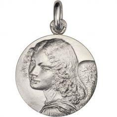 Médaille Ange de Léonard de Vinci 18 mm (argent 950°)