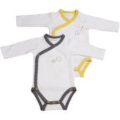 Lot de 2 bodies croisés manches longues Babyfan (Naissance : 50 cm)