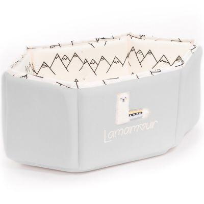 Panier de toilette gris Lamamour (31 x 13 cm)  par Nougatine