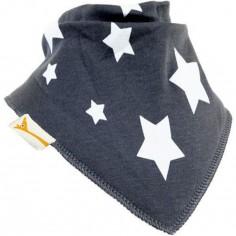 Bavoir bandana étoile Stars gris et blanc