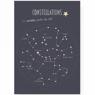 Affiche A3 Constellations  par Lutin Petit Pois