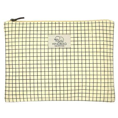 Pochette en coton bio Ema Bristol jaune  par Hindbag