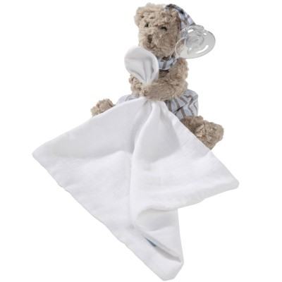 Doudou attache sucette lange Mr Octave l'ours Absorba
