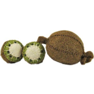 Lot de 3 kiwis en feutrine  par Papoose