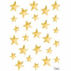 Stickers muraux étoiles dorées Flamingo by Lucie Bellion