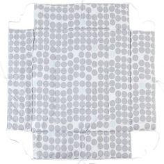 Tour de parc avec tapis molletonné ronds gris Belami