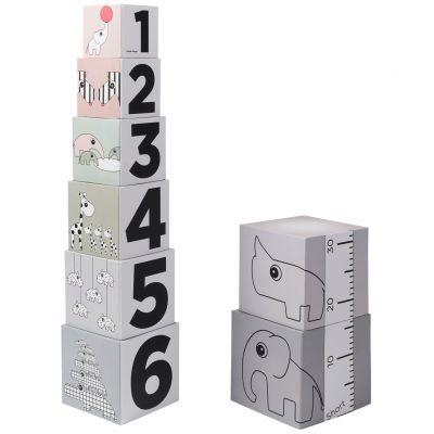 Cube à empiler 1, 2, 3 (8 pièces)  par Done by Deer