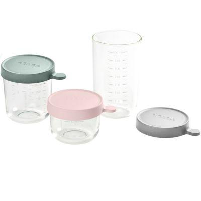 Lot de 3 pots de conservation en verre Portion (150 ml, 250 ml et 400 ml)  par Béaba