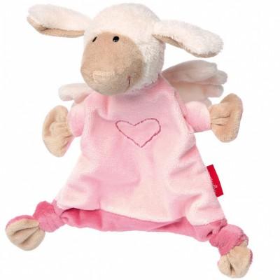 Doudou plat mouton ange gardien rose Sigikid