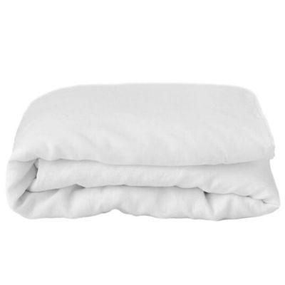 Housse de couette en lin blanc Pure White (80 x 80 cm)  par ooh noo