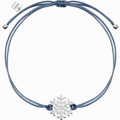 Bracelet sur cordon bleu Life flocon (argent 925°)