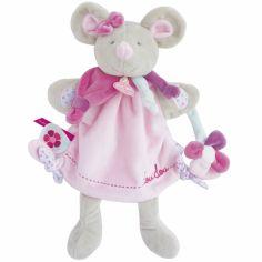 Doudou marionnette Pearly souris (28 cm)