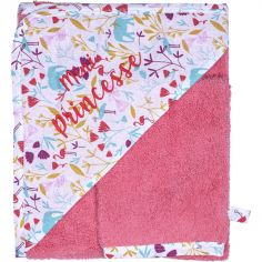 Cape de bain + gant Mini princesse Exotic flamingo (70 x 70 cm)