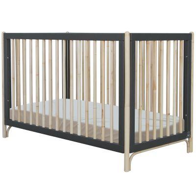 Pack duo lit bébé évolutif et côtés de lit Océane gris ardoise (60 x 120 cm)  par Théo