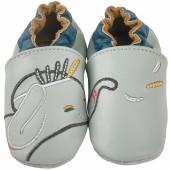 Chaussons cuir Bao gris (6-12 mois) - Noukie's