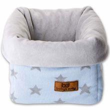 Panier de toilette Star bleu ciel étoiles grises (20 x 20 cm)  par Baby's Only