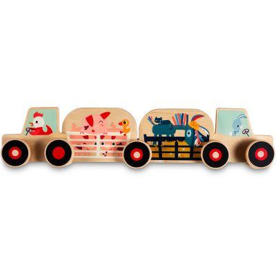 Tracteur à assembler en bois  par Lilliputiens