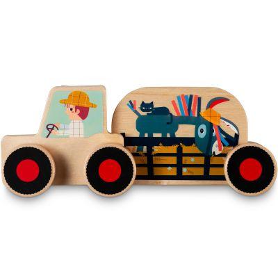 lilliputiens tracteur bois assembler