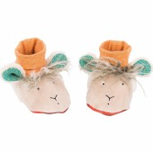 Chaussons mouton Les Zig et Zag (0-6 mois) - Moulin Roty