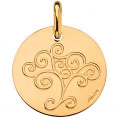 Médaille Arbre de vie 16 mm (or jaune 750°)