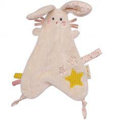 Doudou attache sucette lapin Lilou et Perlin