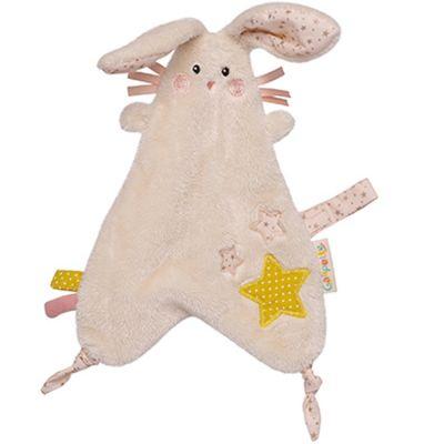 Doudou attache sucette lapin Lilou et Perlin  par Galipette