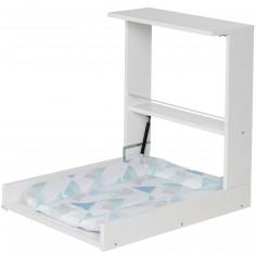 Table à langer murale Wicki blanc prisme