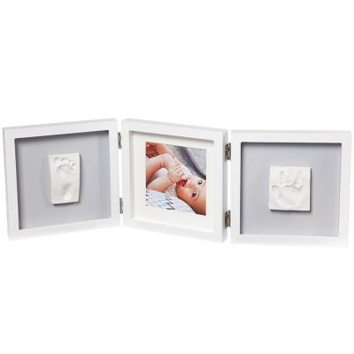 Cadre photo empreinte My Baby Style double gris