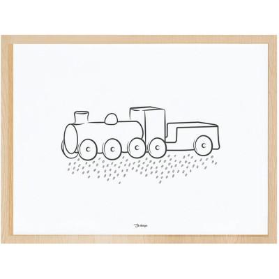 Affiche encadrée la locomotive (30 x 40 cm)  par Lilipinso