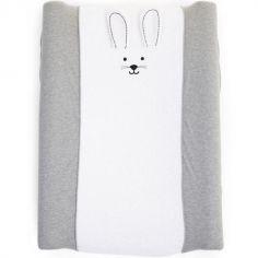 Housse matelas à langer Jersey lapin gris (70 x 50 cm)