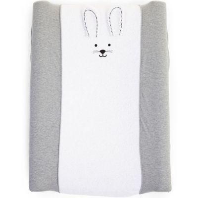 Housse matelas à langer Jersey lapin gris (70 x 50 cm)  par Childhome