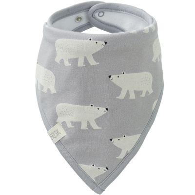 Bavoir bandana Ours polaire en coton bio  par Fresk