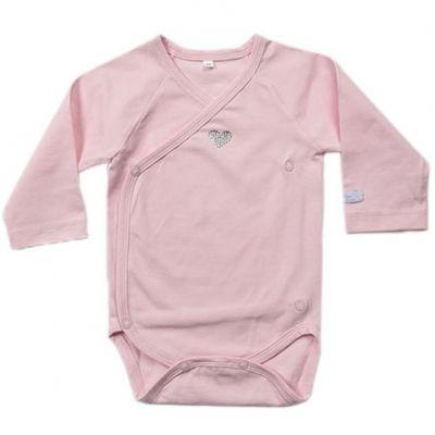 Body manches longues coeur rose Etoiles (1 mois)  par Nougatine