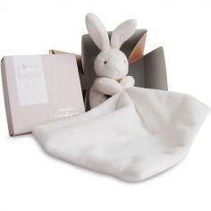 Coffret doudou mouchoir lapin (10 cm)