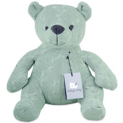 Peluche ourson Cable Uni vert menthe (35 cm) Baby's Only
